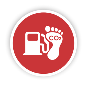 Icon of a carbon footprint