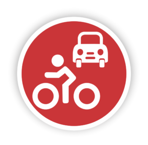Bicycle and car icon