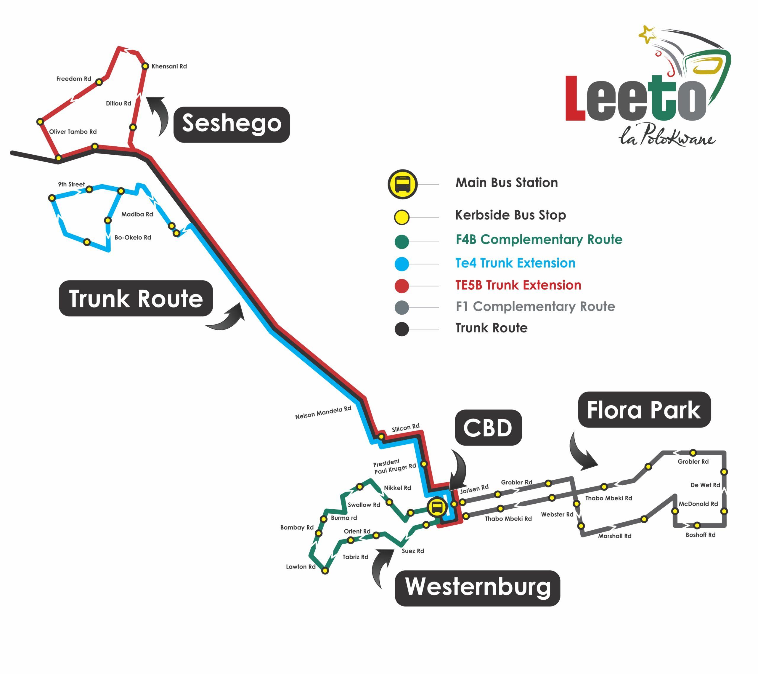 The Route Map of Leeto la Polokwane